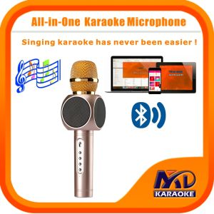 Magic Karaoke Microphone Portable Wireless Bluetooth Microphone Home Mini Karaoke Player KTV Singing Record for iPhone Smart Phone Tablet PC Laptop pictures & photos