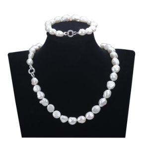 Snh 10mm AA Grade White 925 Sterling Silver Real Pearl Set Jewelry pictures & photos