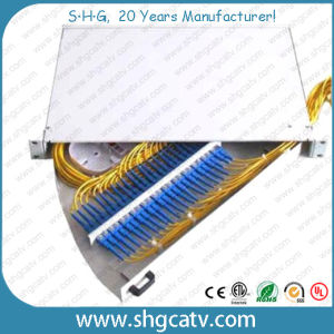 Side Slidable 24 Ports Rack Mount Fiber Optic Patch Panel (FPP-S-SC24) pictures & photos