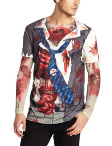 Custom Men′s Long Sleeve All Over Sublimation Printing T Shirt pictures & photos