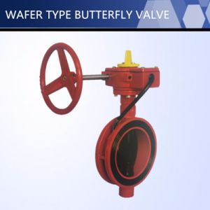 High Quality UL FM Approved Wafer Type Butterfly Valve pictures & photos