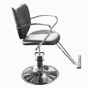 Hydraulic Styling Chair with Footrest on Round Base (YM-BC8058)