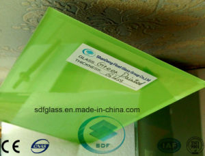 Green Painted Glass with Ce, ISO 3mm to 12mm