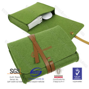China Supplier Wholesale Eco-Friendly Business Felt 11.6 Inch New Disign Latest Felt Cosmetic Bag pictures & photos
