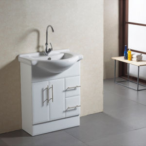 Modern MDF Bathroom Furniture with Mirror and White Basin pictures & photos