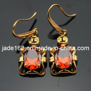 18k Gold Over Silver Cubic Zirconia Earrings (PSJ06035)