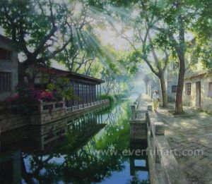 Handmade Scenery Paintings Art on Canvas (ESL-118) pictures & photos