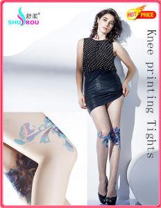 Fashion Sexy 20d Knee Printing Tights Pantyhose Leggings Silk Socks Stockings for Women (SR-1272)