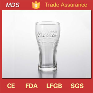 Facotory Glasware Stackable Clear Embossed Cola Beer Glass Cup pictures & photos