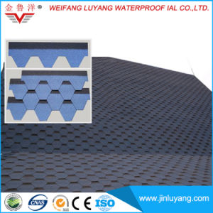 China Supply Mosaic Type Colorful Asphalt Roofing Tile, Waterproofing Shingle pictures & photos