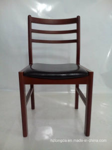 Beech Solid Wood Frame with PU Leather on Seat