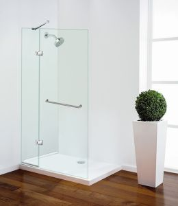 Frameless Bathtub Shower Screen with Swing Panel pictures & photos