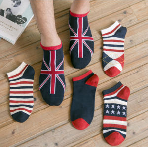 Summer British Cotton Boat Wholesale Cheap Price Men′s Short Socks pictures & photos