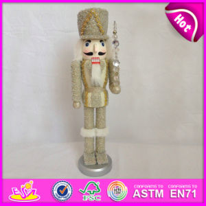 2015 Wooden Toy Christmas Nutcracker Soldier, 38 Cm Wooden Trumpet Soldier Nutcracker Toy, Hand Painted Wooden Nutcracker W02A069b pictures & photos