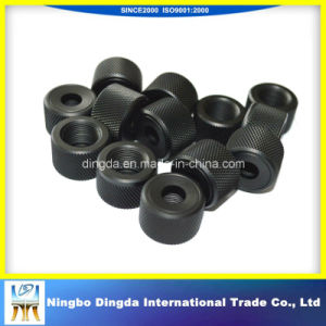 Black Oxide Knurled Aluminum Machining Parts with Thread pictures & photos