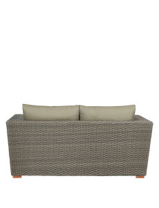 Well Furnir Grey Color Rattan Sofa with Waterproof Cushion pictures & photos
