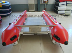 14.8feet High Speed Boat Cat Boat 4.5m with PVC Tube and Aluminum Floor pictures & photos