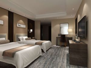 Hotel Furniture/Luxury Double Bedroom Furniture/Standard Hotel Double Bedroom Suite/Double Hospitality Guest Room Furniture (NCHB-001001) pictures & photos