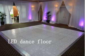 The Fashionable and Newest Wedding Decoration LED Dance Floor with White Starlit pictures & photos