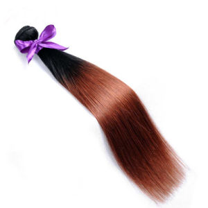 Cheap Brazilian Hair Weave Human Hair Extensions Ombre 1b/33 Factory Wholesale pictures & photos