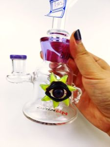 17 Inch Big Colorfull Skull Double Honeycomb Circle Matrix Perc Glass Water Pipe pictures & photos