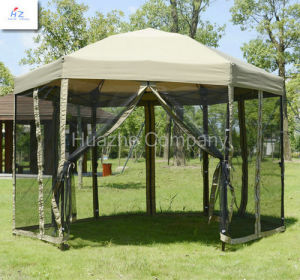 1.8m Steel 6 Edge Shape Folding Gazebo Folding Gazebo Pop up Tent Easy up Gazebo with Mosquito Net pictures & photos