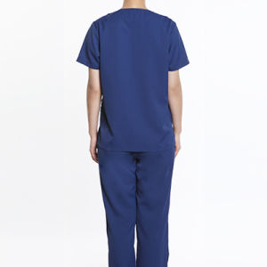 Navy Blue Unisex Cotton Medical or Scrub Uniform pictures & photos