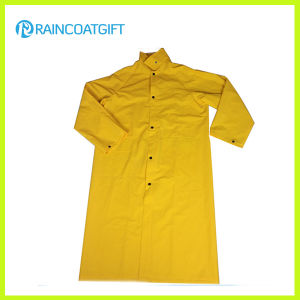 PVC Polyester PVC Long Rain Jacket Rpp-040 pictures & photos