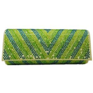 Blue-Green Fashion Bag Good Looking clutch Crystal Eveningbag pictures & photos