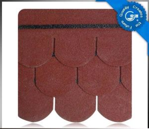 5-Tab Fish Scale Asphalt Roof Shingle /Colorful Fibreglass Roof Tile /Bitumen Roofing Material with ISO (12 Colors) pictures & photos