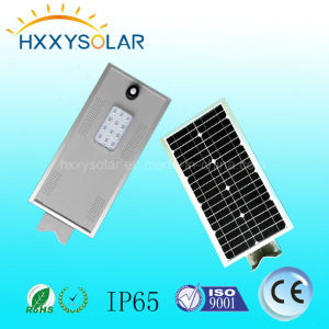 Aluminium Alloy Outdoor LED Sensor Solar Street Light with Battery pictures & photos
