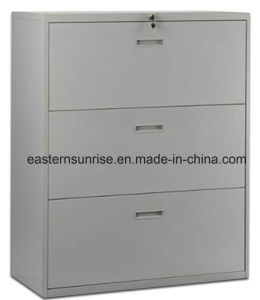 English Hot Sale Office Furniture 3 Drawers Steel Filing Cabinet pictures & photos