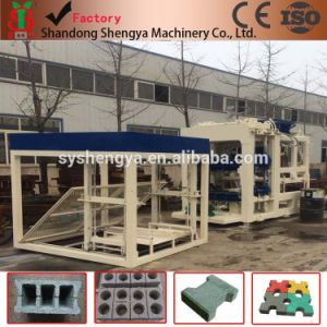 China Shengya Brand Big Automatic Hydraulic Block Making Machine/Brick Making Machine Production Line Qt10-15 pictures & photos