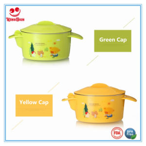 Water Injection Insulation Baby Bowl with Cartoon Printing pictures & photos