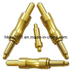 Custom Brass Gold Plated Pogo Pin Connector, Spring Contact Pins pictures & photos