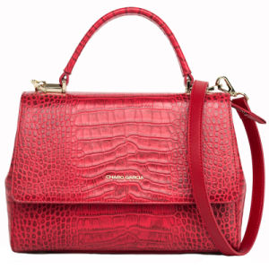 Genuine Leather Crocodile Pattern Designer Lady Handbag (CG9101) pictures & photos