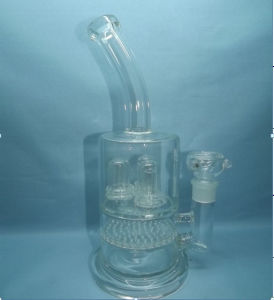 Percolator Glass Water Pipes for Tobacco Smoking