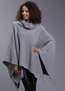 Lady′s Pure Cashmere Poncho (BS140069)