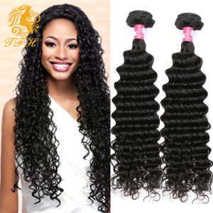 7A Grade 100% Unprocessed Malaysian Deep Wave Virgin Hair Bundles Malaysian Virgin Hair Weave Malaysian Deep Curly Hair 4PCS Lot pictures & photos