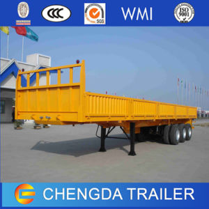 Tri-Axle 40FT Flatbed Container Semi Trailer for Sale pictures & photos