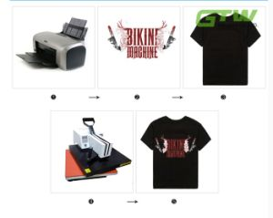 90GSM A3 Size Heat Transfer Paper for Cotton T-Shirt in Dark Color pictures & photos