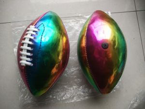 1# PVC Machine Stitching Color American Football pictures & photos