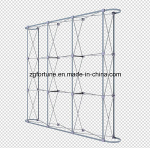 High Quality Flat Shape Round Tube Aluminum Spring Pop up Stand pictures & photos