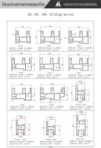 Plastic Extrusion Companies Custom UPVC/PVC Plastic Profile for Window pictures & photos
