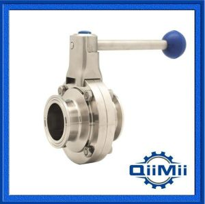Ss304/Ss316L Sanitary Stainless Steel Welded/Clamp/Thread Butterfly Valve pictures & photos