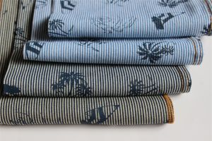 Striped Cotton Denim With Pigment Print pictures & photos