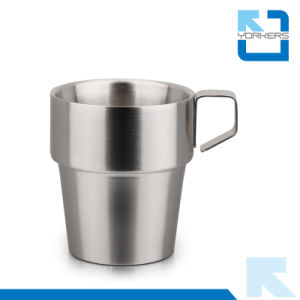 300ml High Quality 201 Stainless Steel Reusable Coffee Cup & Drinking Cup pictures & photos