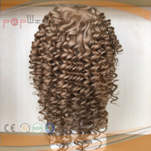 Fashion Style Brazilian Curly Human Hair Full Silicone Hand Tied Wig pictures & photos