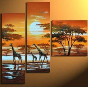 Custom Printed Order Wholesale Stretched Canvas pictures & photos