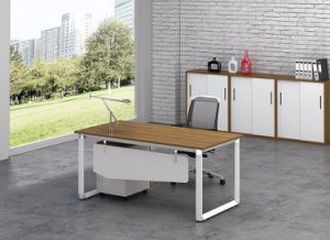 White Customized Metal Steel Office Staff Desk Frame with Ht71-1 pictures & photos